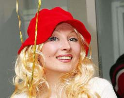 Chanteuse animatrice russe